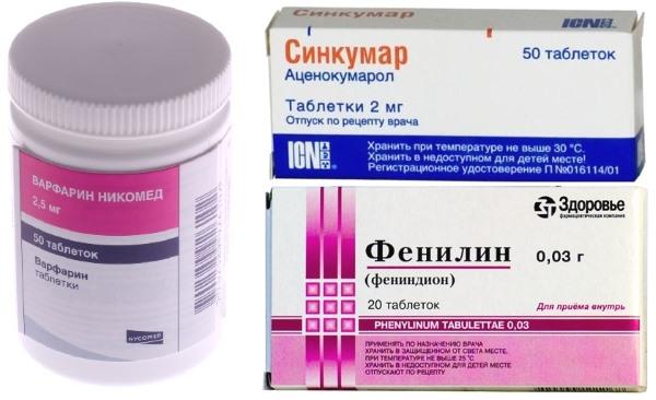 Список препаратов — антикоагулянтов прямого и непрямого действия