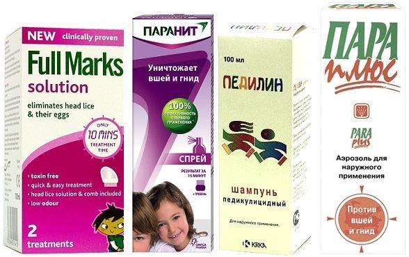 Шампунь от вшей и гнид для детей